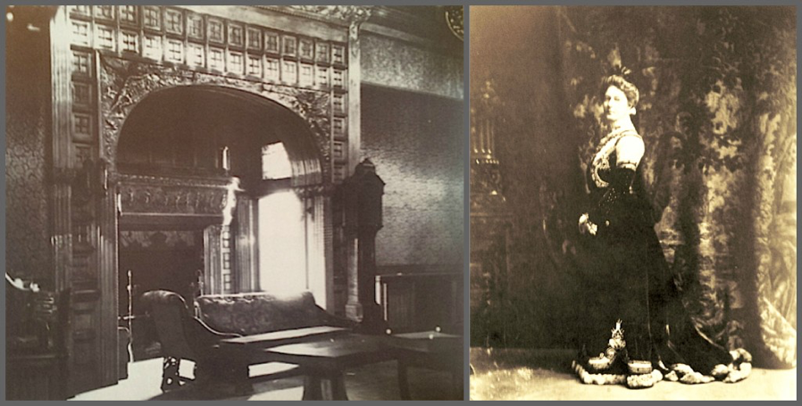 The interiors of the homes spared no expense. The home of Jeptha Wade (wife is pictured on the right), founder of the Western Union Telegraph Company, featured rare imported woods and craftsmen who trained in Europe.