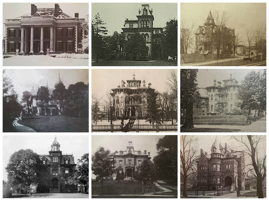 A collection of 19th-c. architectural styles, the picturesque mansions went on for miles, even beyond University Circle.