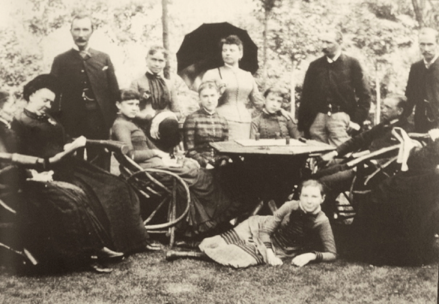 The Rockefeller family during an afternoon on the Forest Hill Estate in 1881. Rockefeller's golf course was allegedly second to none. He played daily, rain or shine.