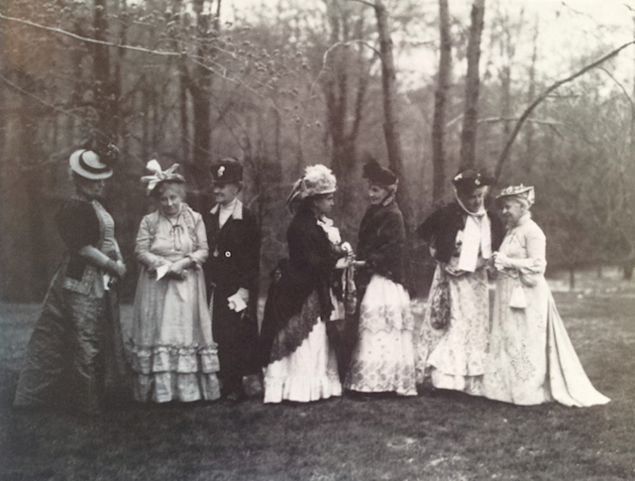 It was on the surface very much a man's world at the time--but in fact all the stay-at-home ladies formed clubs and effected incredible social change and brought charities and progressive work to the city. And they dressed fabulously.