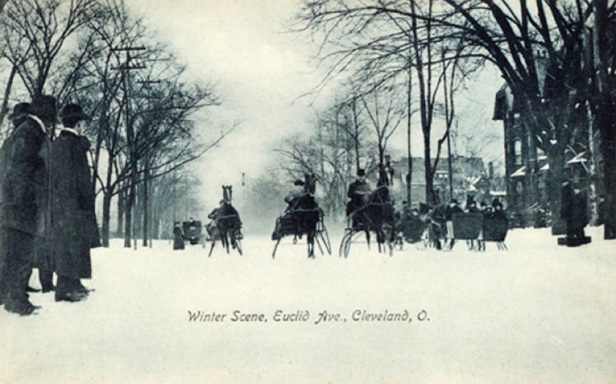 A famous tradition was the winter sleigh races--anybody who was anybody on the avenue had to participate in full livery.