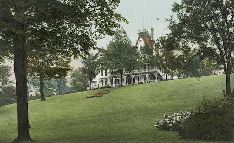 The Forest Hill Estate -- the site is a popular sledding site today in East Cleveland, although the house itself is long gone.