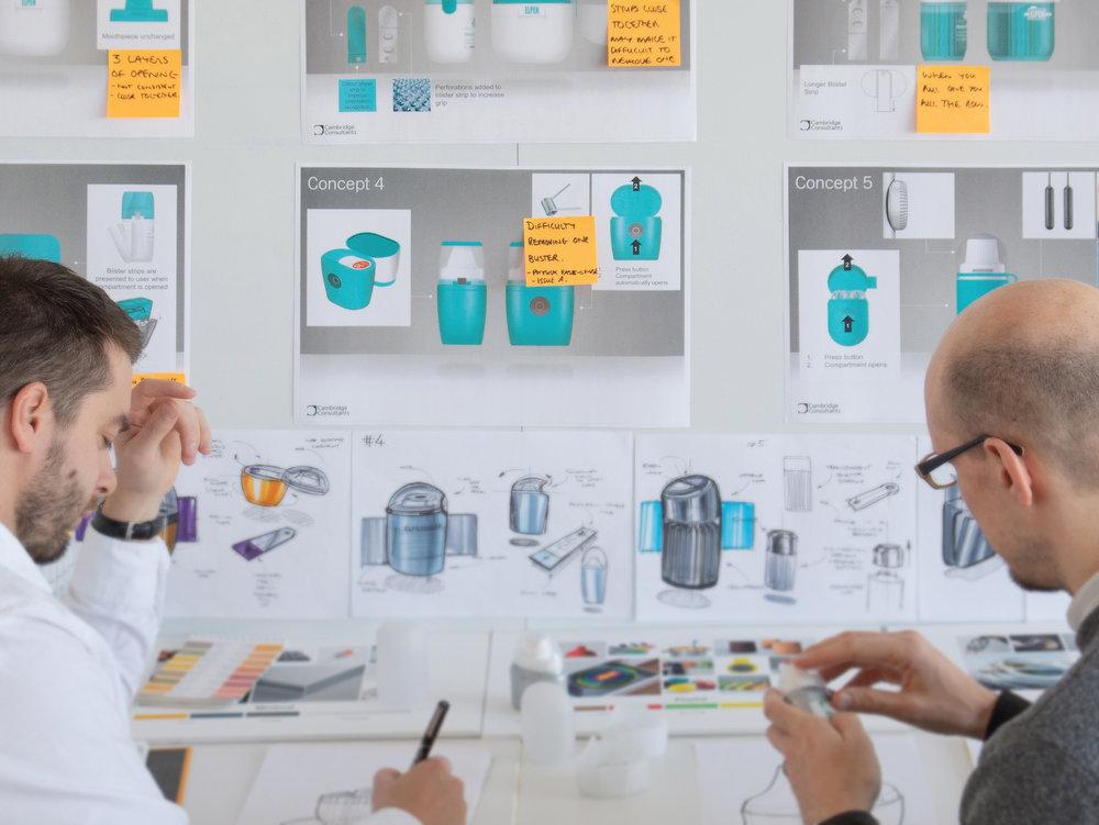 Concept development following client workshops