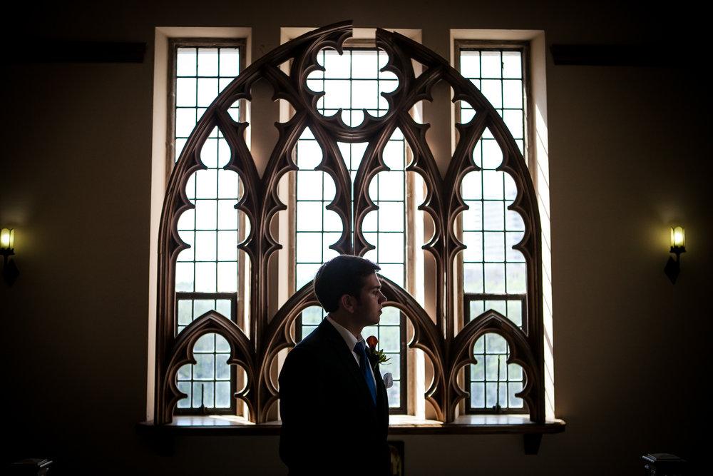 Houston Wedding Photographers Plum Tree Studios Photo of Groom Before Ceremony