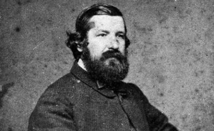 Portrait of Julius von Haast in 1867 (Alexander Turnbill Library)