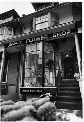 Bill's flower shop in Yorkville, Toronto, 1960