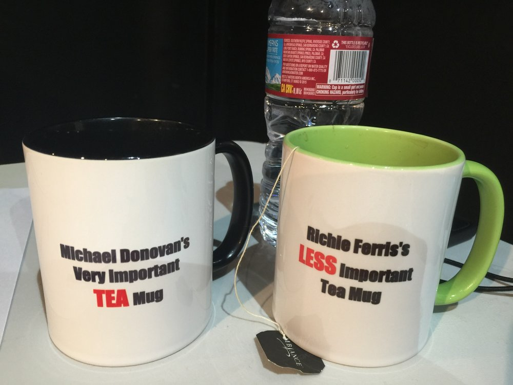 Our audition mugs!