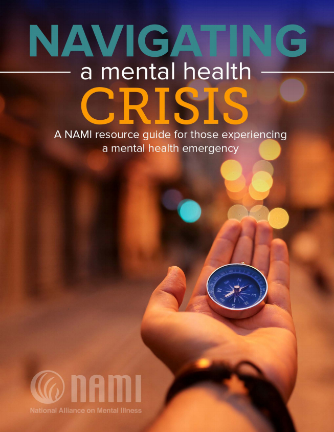 Navigating a mental health crisis guide front cover