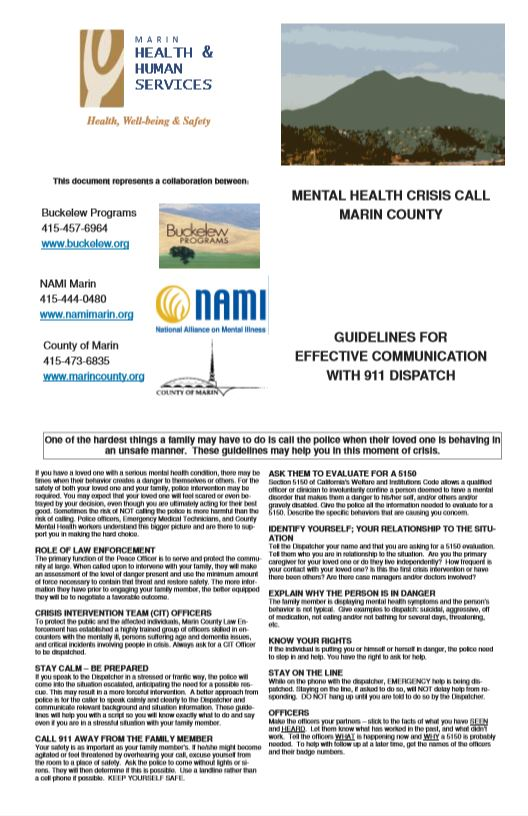 guidelines for comunication with 911