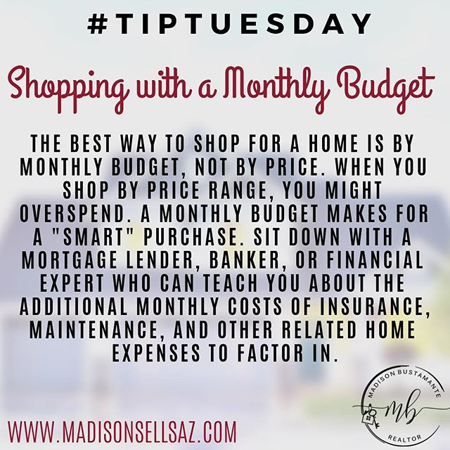 TIP TUESDAY 🤓 . . ☎️480-206-1689 www.MadisonSellsAZ.com MadisonSellsAZ@gmail.com . . #tiptuesday #tuesdaymotivation #buyingahome #homepurchase