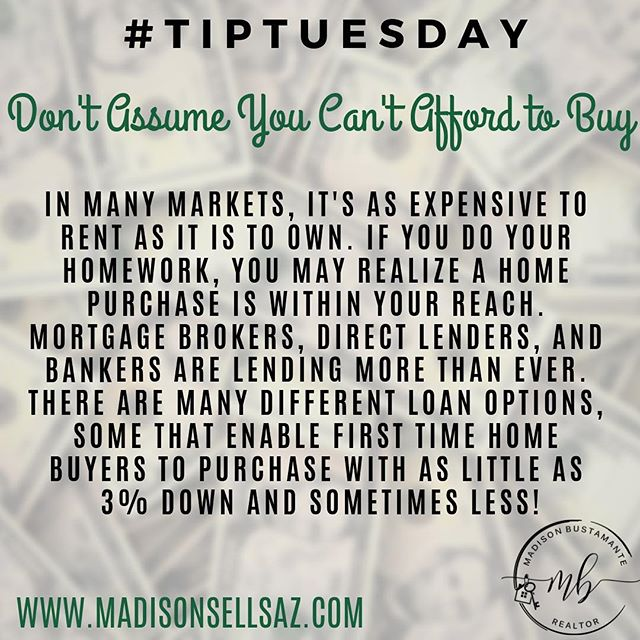 TIP TUESDAY! 🤓 . . Questions about the home buying process? Just reach out! Feel free to call, text, email, or DM me on social media with any of your questions! ☎️ 480-206-1689 📩 MadisonSellsAZ@gmail.com . . . . . #tiptuesday #buyingahouse #firsttimehomebuyer #homeloans #realestate #madisonbustamante #knowledgeispower #phoenixhomes #phoenixhomesforsale #womeninbusiness #entrepreneur #native #teacher #homebuyingtips #buyingahouse