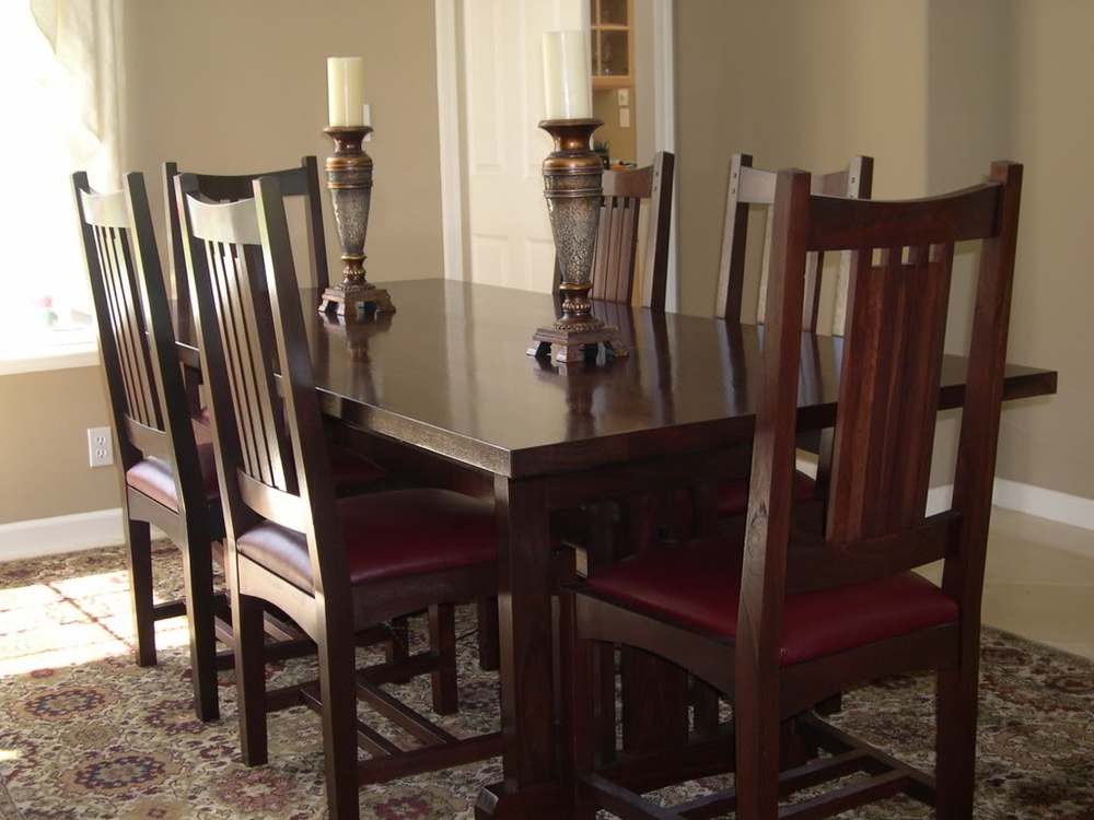 dining table and chairs -