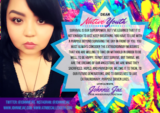 dear native youth graphic