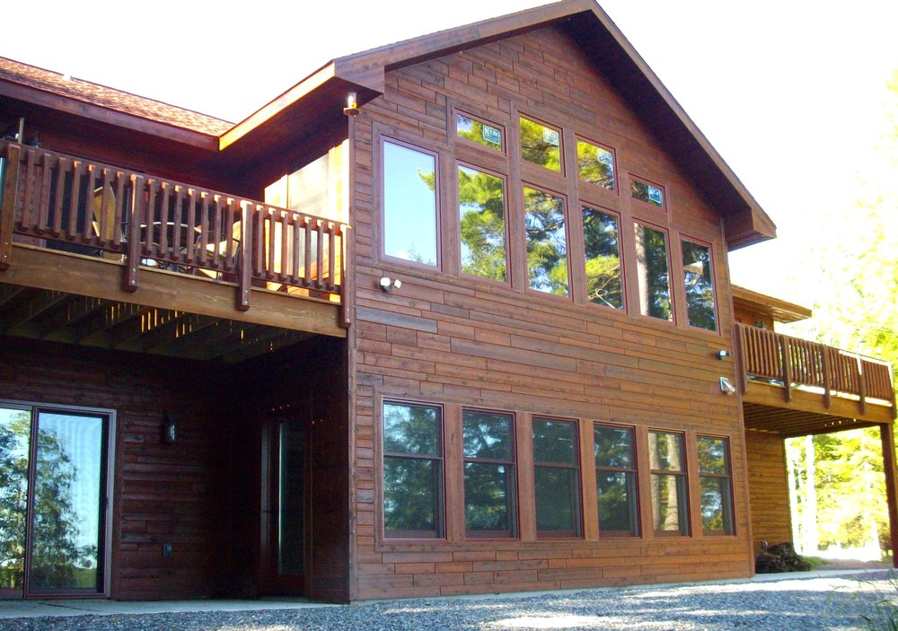 Why a Cedar Frame Home - • More economical in larger floor plans.• More options in regards to exterior sidings.• Added R-Factor in sidewalls.• More options on interior wall finishing.• Super insulate with Icynene insulation.• Modified post and beam construction.• More design options.