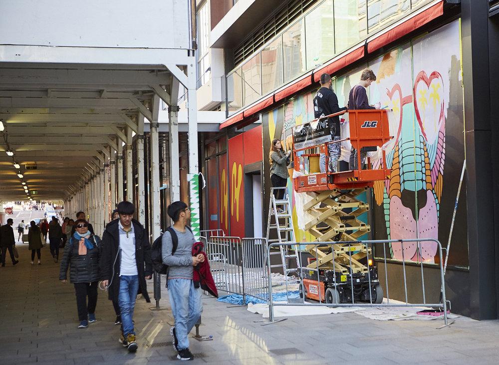 Mulga Mural Darling Square Sydney Artist
