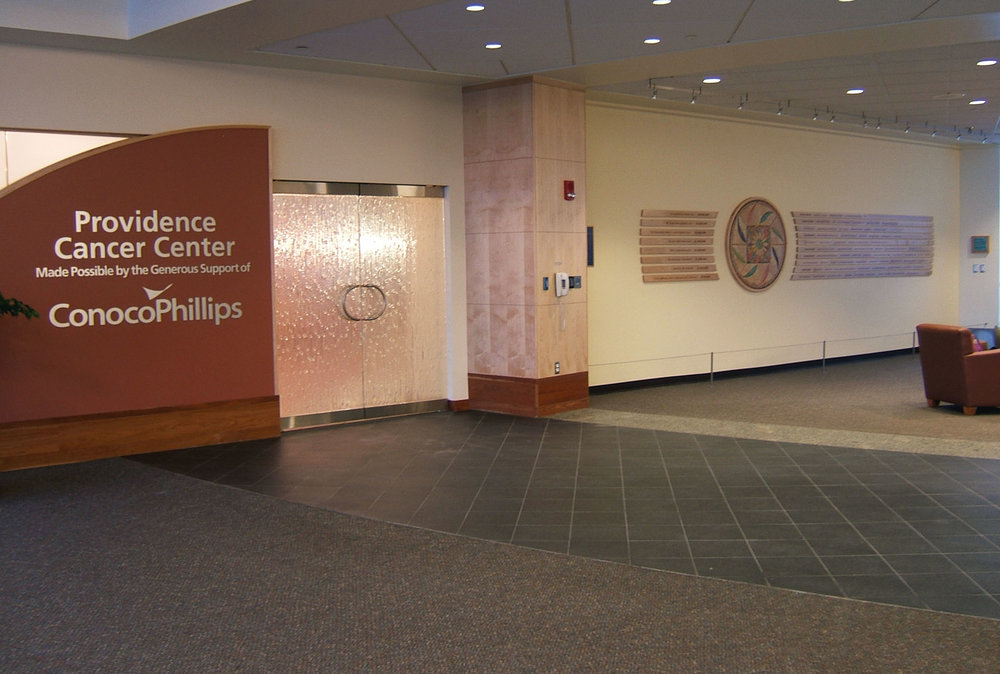 Lobby and Donor Wall