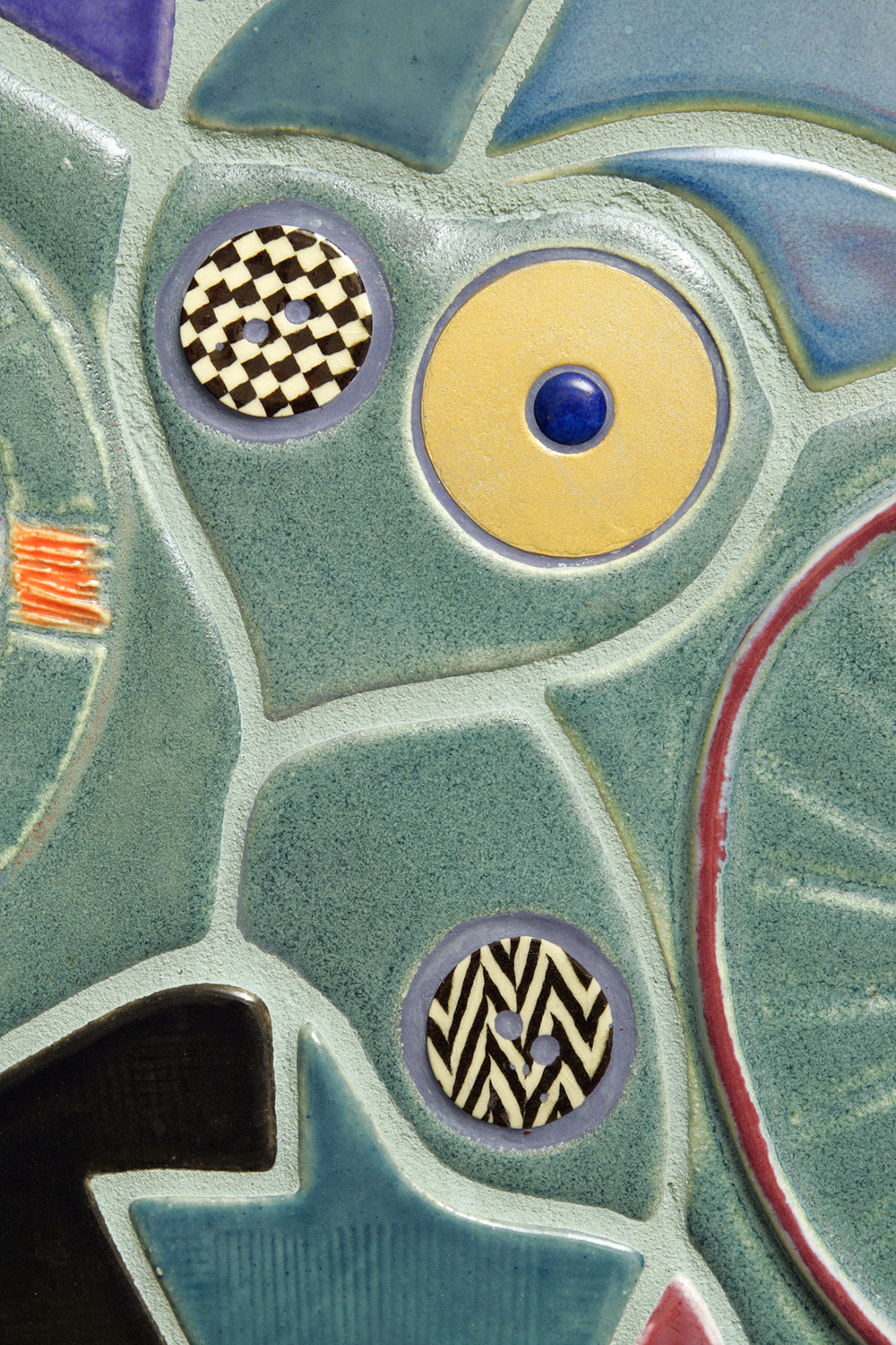 inset metal and ceramic detail