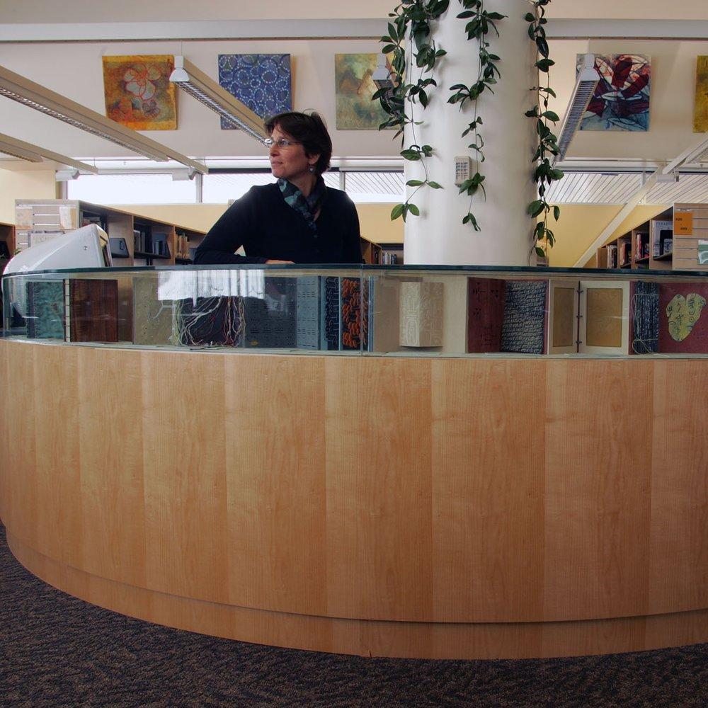 South Anchorage High School - Anchorage, AlaskaInformation Ages Book Display, 2004