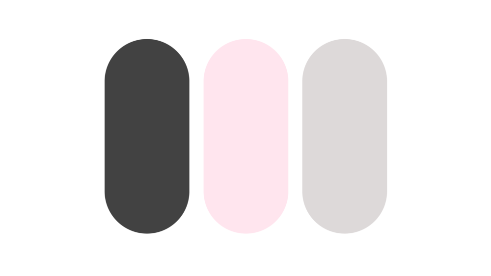 Step 2:  Finding the colors. The overall vibe of this blog is part my personal aesthetic, part minimalistic design blog. Although I want to make Cxntrast a space for a wide audience, I still needed it to reflect who I was as a designer. I narrowed it down to these 3 colors. It's always best to keep it to 3 or 4 colors, max.