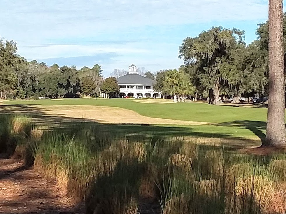 A look down the final hole.