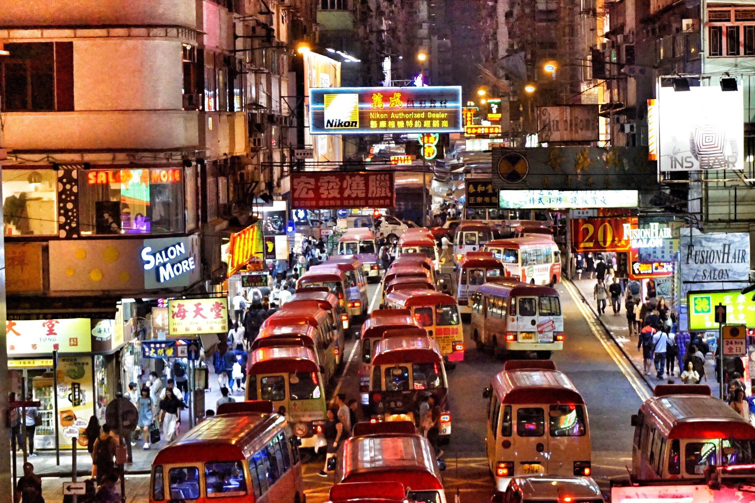 Walk through the streets of Mong Kok on your personalised night tour of kowloon and soak up the atmosphere of the neon lights.
