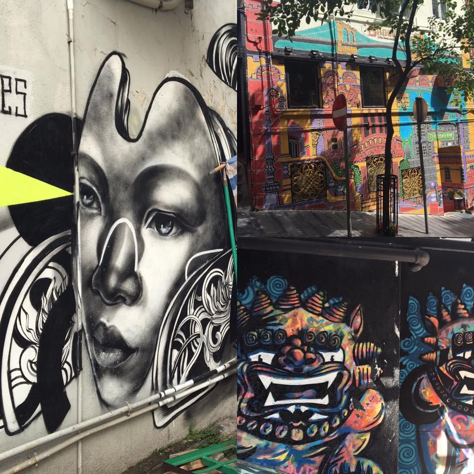 street art as seen on a hong kong walking tours