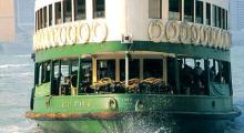 Take a tour on the Star Ferry during your walking tour in Hong Kong