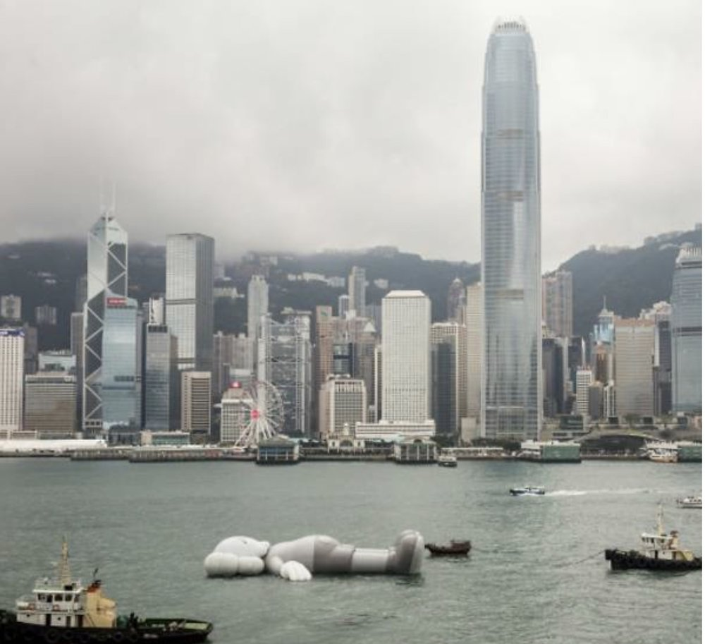 """Take your picture of KAWS' """"Companion"""" on your tours in Hong Kong!  Photo Credit: SCMP"""