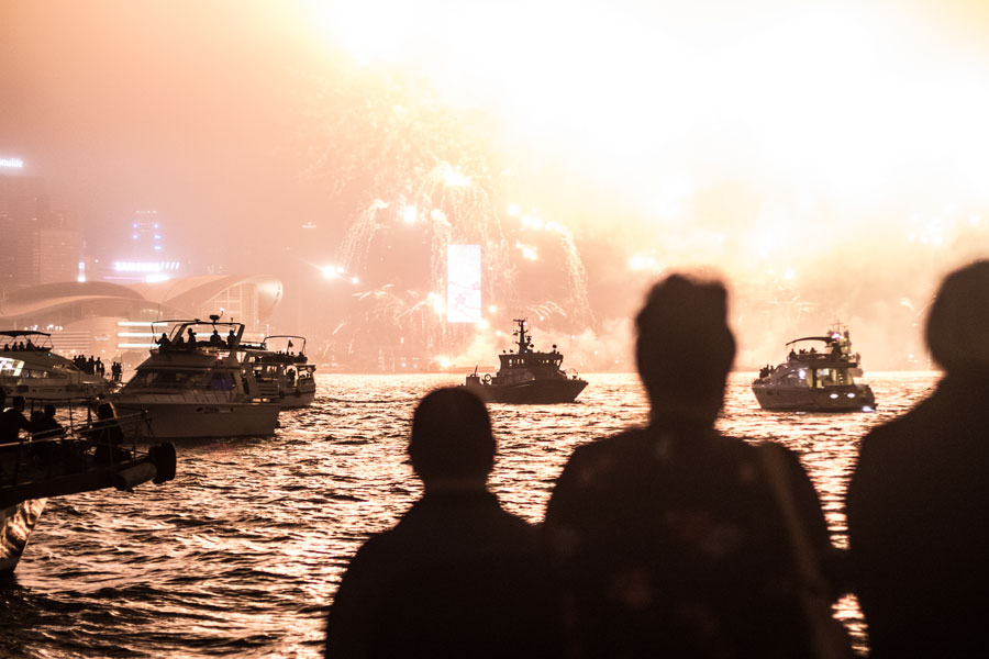 new year in hong kong on a boat