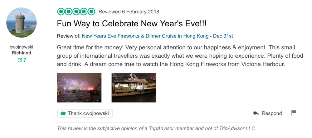 Copy of hong kong fireworks cruise new year