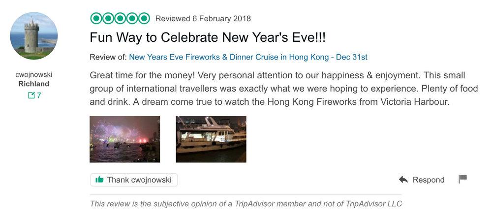 hong kong fireworks cruise new year