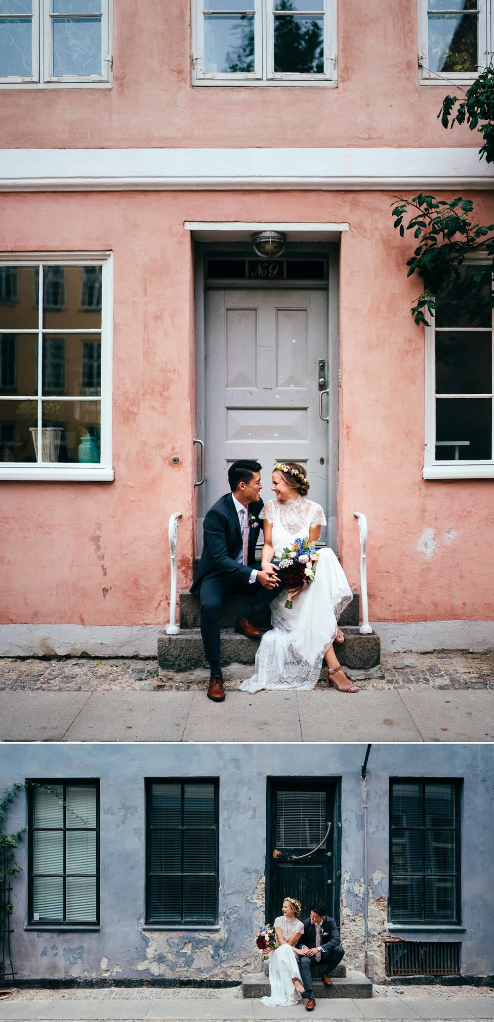 brudepar-foran-flotte-farvede-bygninger-i-københavn-bryllupsfotograf.jpg