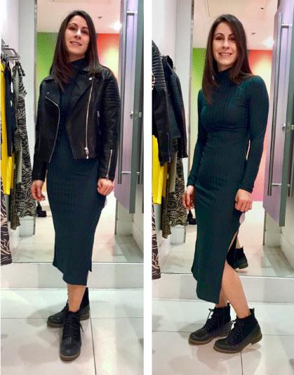 Always Stylish Blog Paola in Topshop rib dress