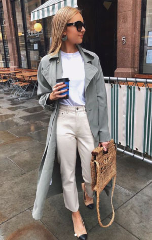 @lydiajanethomlinson wearing & Other Stories Tapered Mid Rise Jean