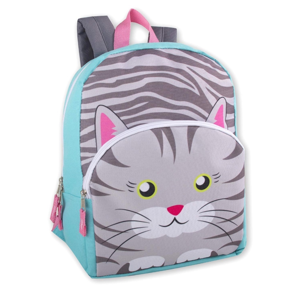 Kids Backpack - This is a great travel backpack. Not only does it come in all sorts of fun animals, it is under $10! We got this for our oldest and it is a perfect carry on for her and good for road trips. She likes to pack it herself with fun toys for the trip.
