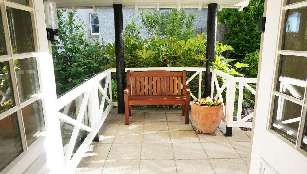 Entrance porch - a little afternoon sun trap!