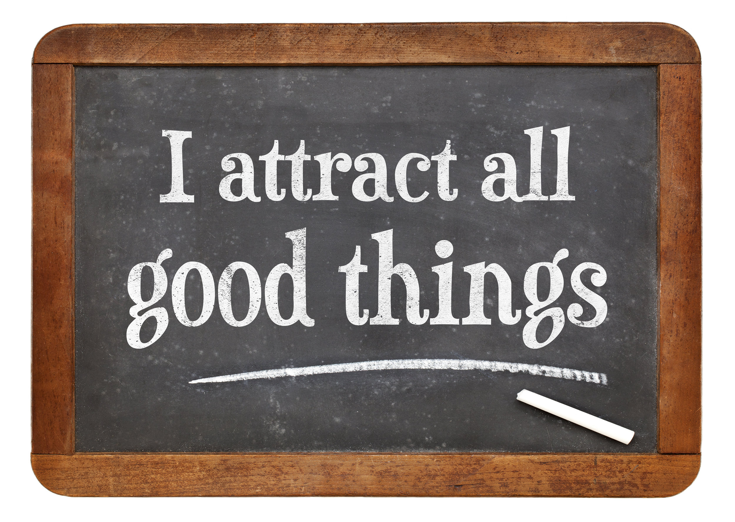 I attract all good things - affirmation