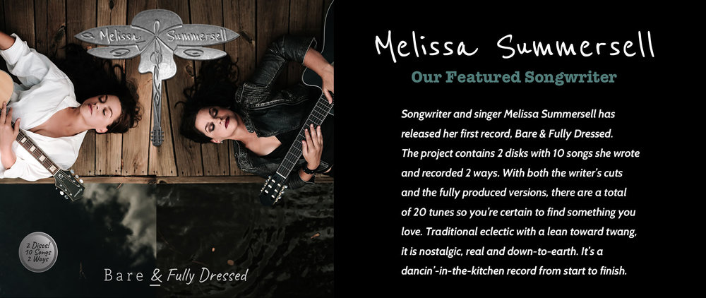 Melissa Summersell's 2-Disc CD Bare and Fully Dressed