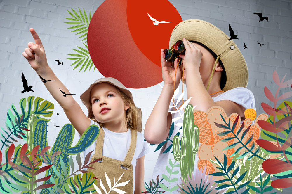 Art Safari - July 8th - July 12thGrab your binoculars and hiking boots, we are going to take a trip to the safari! Each day will be a new safari as we learn about animals,through literature, games and art. Discover the adventure of the safari without leaving camp!