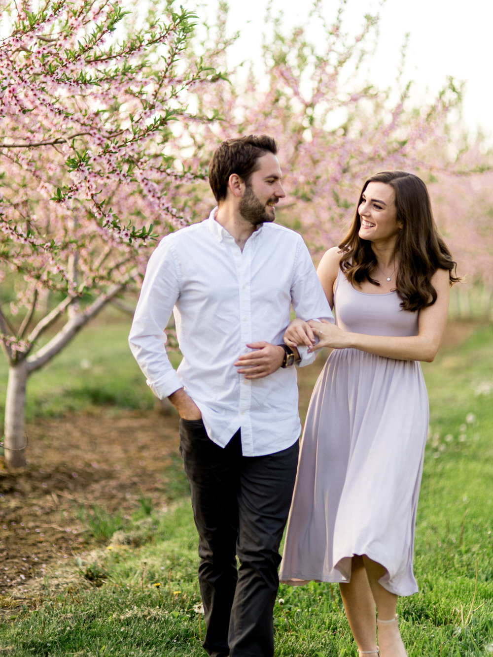 Chris & Heather's Engagement Session in Vineland Ontario Spring Blossoms Trees by Hush Hush Photography & Film Aidan Hennebry - 4.jpg