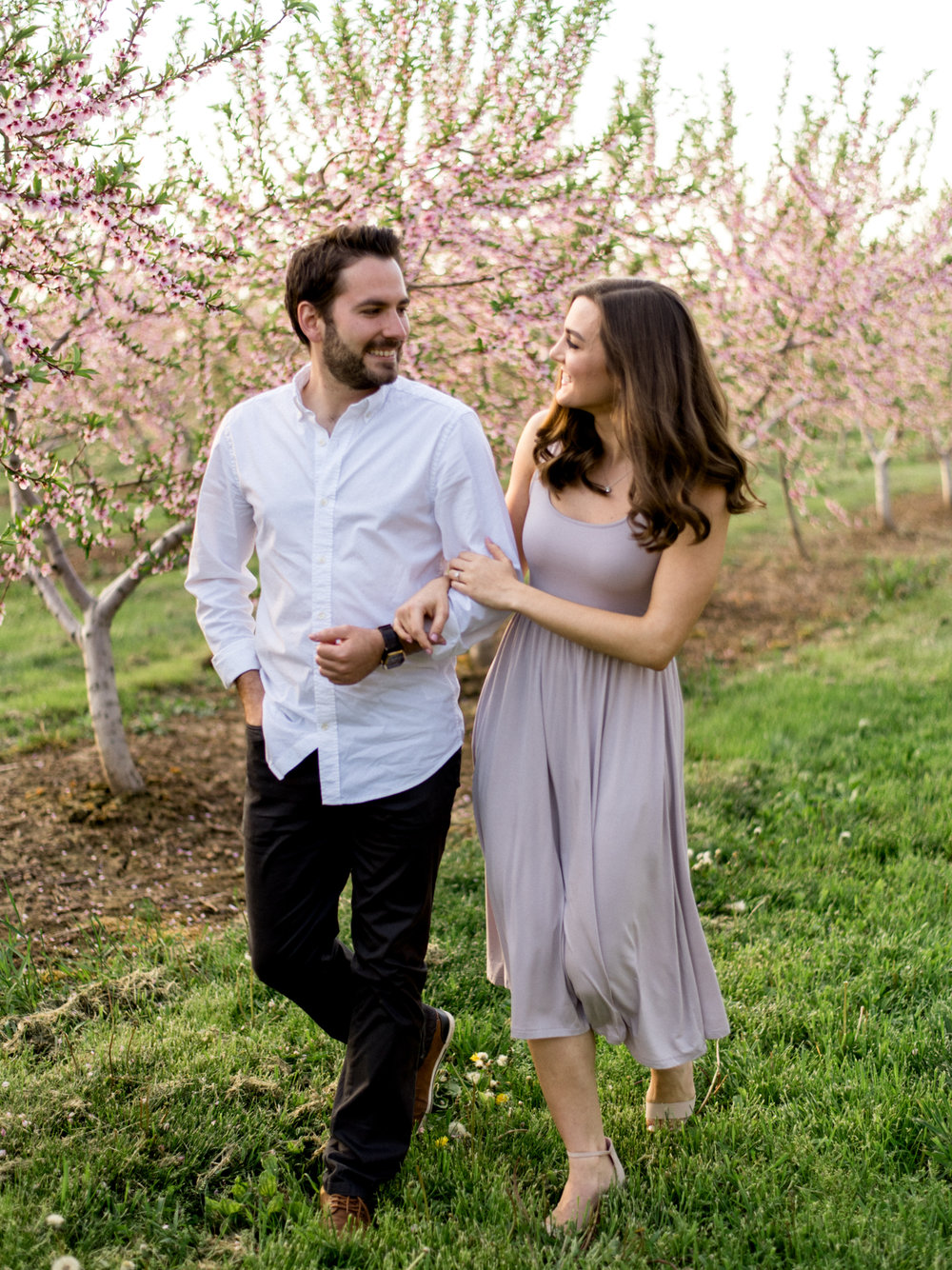 Chris & Heather's Engagement Session in Vineland Ontario Spring Blossoms Trees by Hush Hush Photography & Film Aidan Hennebry - 5.jpg