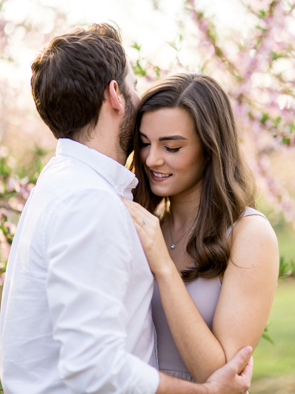 Chris & Heather's Engagement Session in Vineland Ontario Spring Blossoms Trees by Hush Hush Photography & Film Aidan Hennebry - 10.jpg