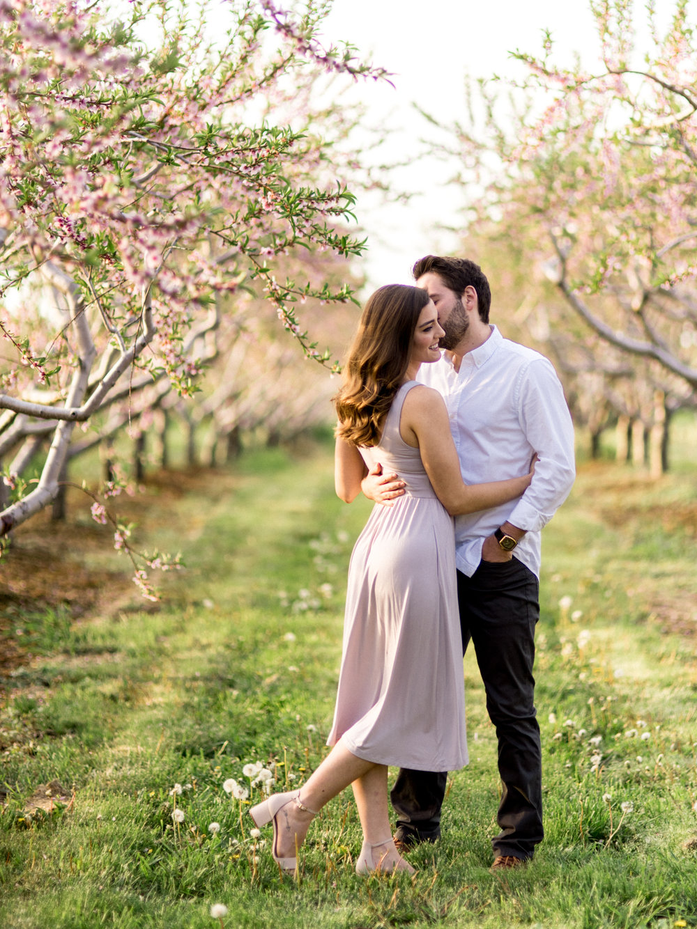 Chris & Heather's Engagement Session in Vineland Ontario Spring Blossoms Trees by Hush Hush Photography & Film Aidan Hennebry - 12.jpg