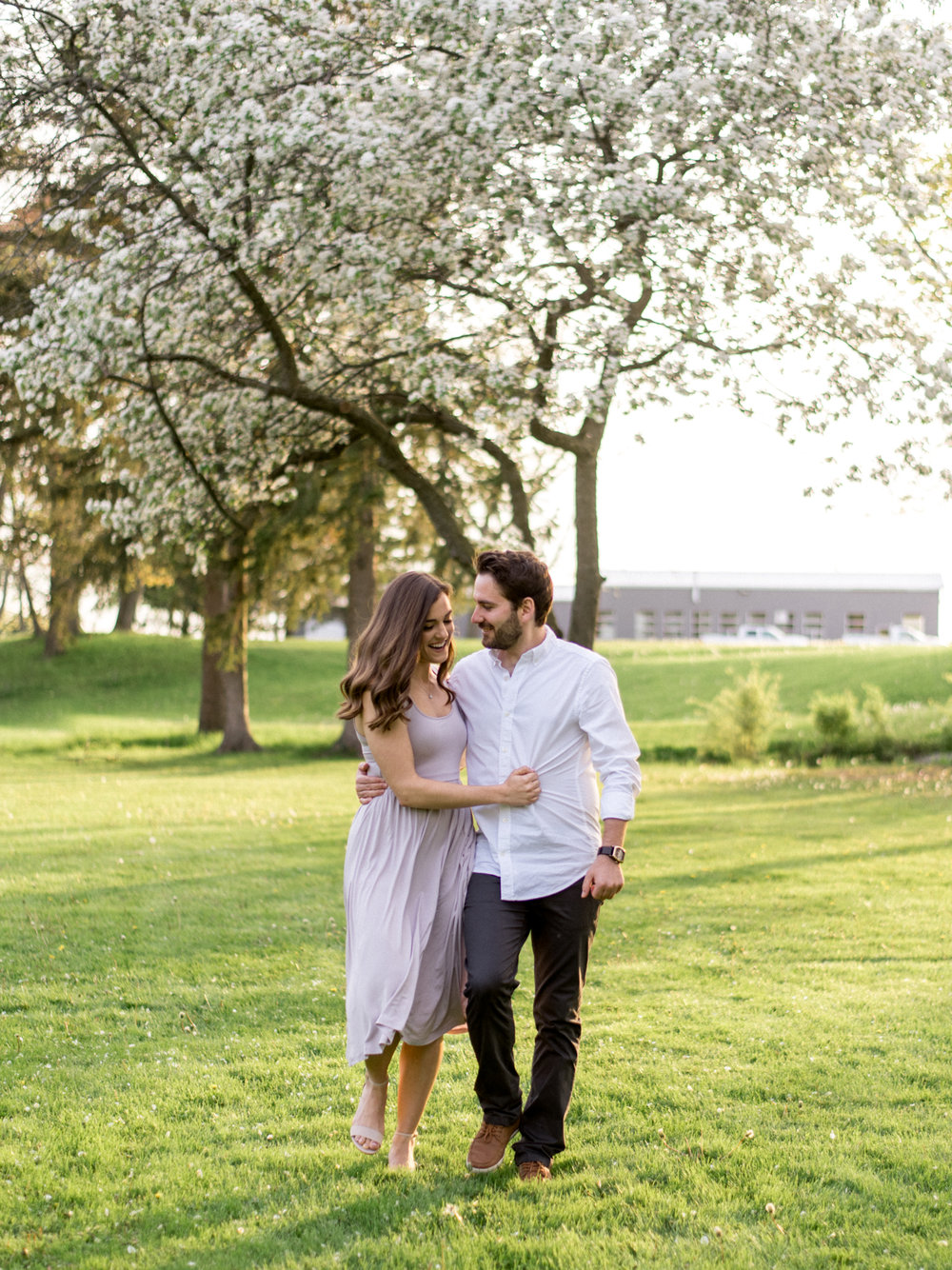 Chris & Heather's Engagement Session in Vineland Ontario Spring Blossoms Trees by Hush Hush Photography & Film Aidan Hennebry - 21.jpg