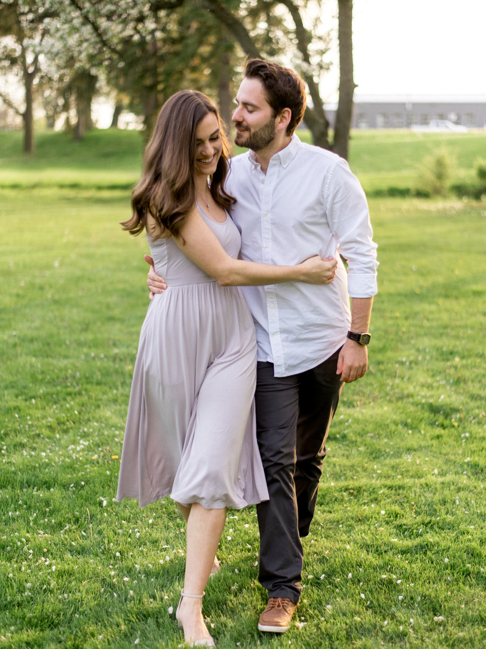 Chris & Heather's Engagement Session in Vineland Ontario Spring Blossoms Trees by Hush Hush Photography & Film Aidan Hennebry - 23.jpg