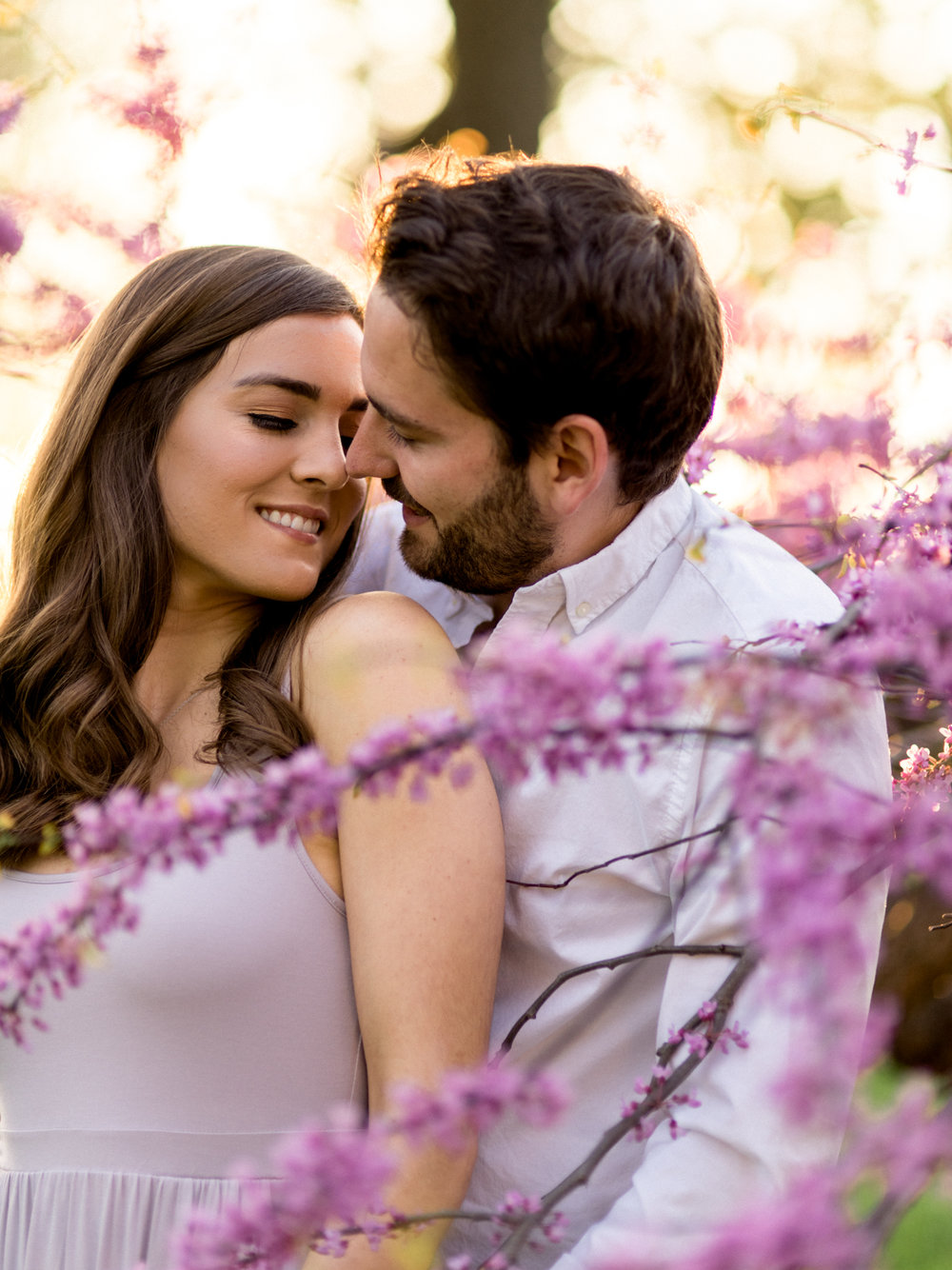 Chris & Heather's Engagement Session in Vineland Ontario Spring Blossoms Trees by Hush Hush Photography & Film Aidan Hennebry - 32.jpg