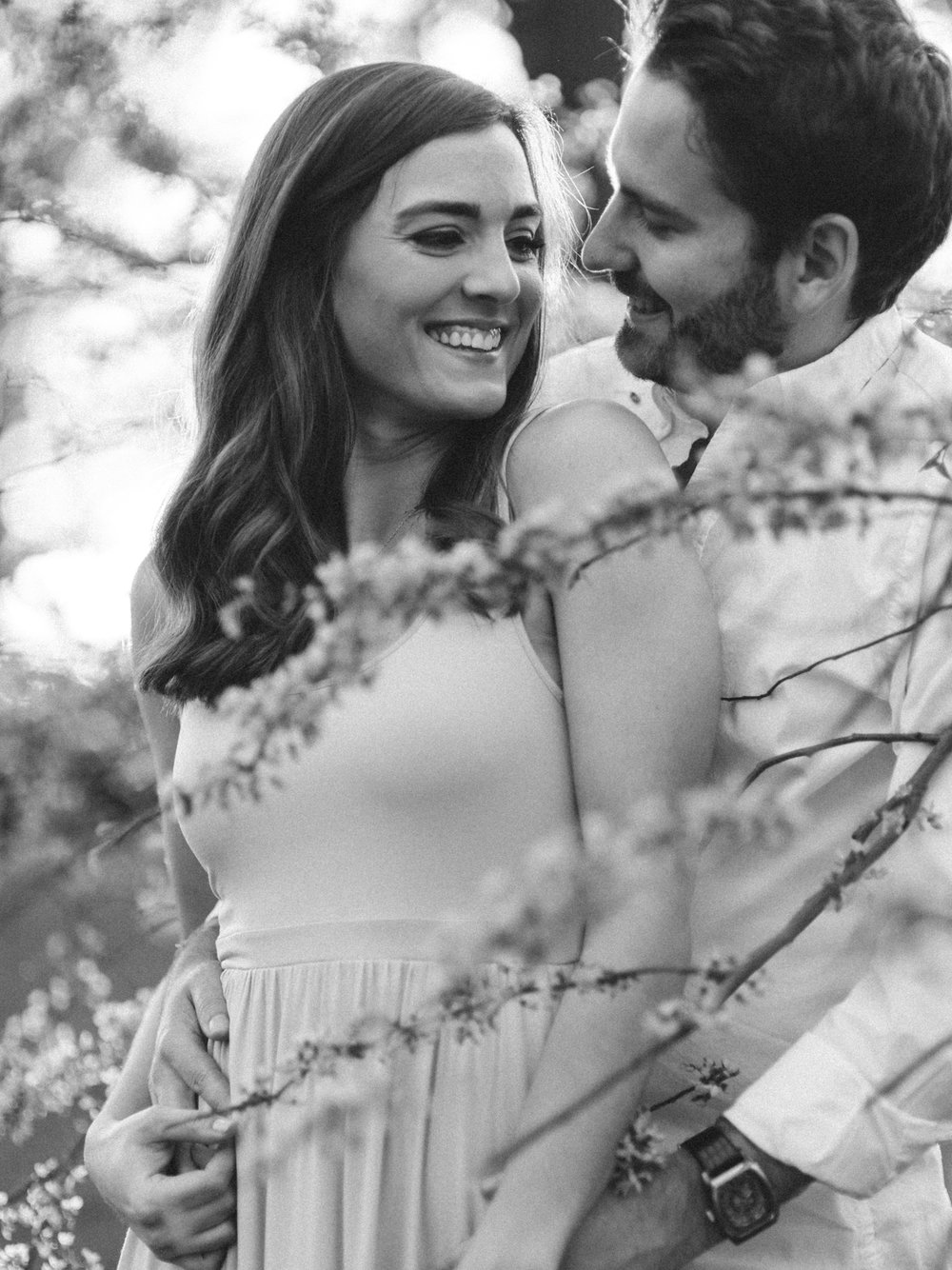 Chris & Heather's Engagement Session in Vineland Ontario Spring Blossoms Trees by Hush Hush Photography & Film Aidan Hennebry - 35.jpg