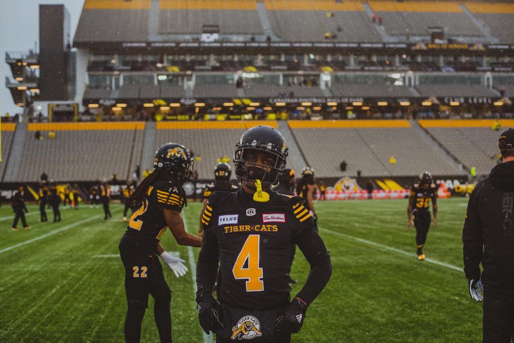 Aidan Hennebry Hamilton Tiger Cats Ottawa Red Blacks Guest Artist November Game Rain Snow Tim Hortons Field Football CFL Canadian Football League-4.jpg