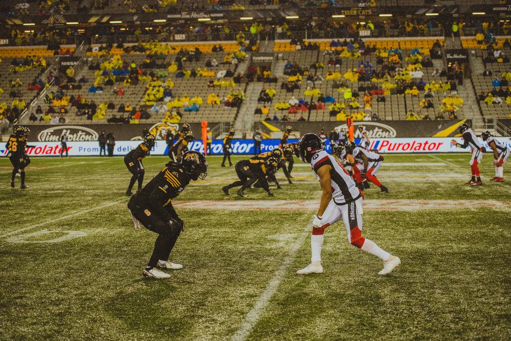 Aidan Hennebry Hamilton Tiger Cats Ottawa Red Blacks Guest Artist November Game Rain Snow Tim Hortons Field Football CFL Canadian Football League-29.jpg