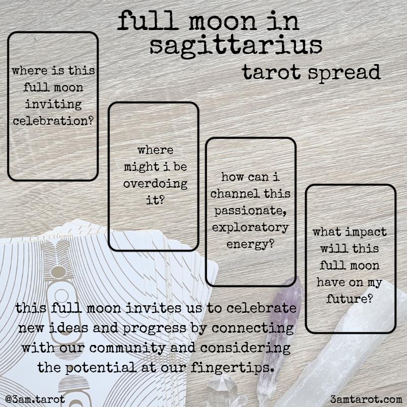 full moon in sagittarius — 3am tarot